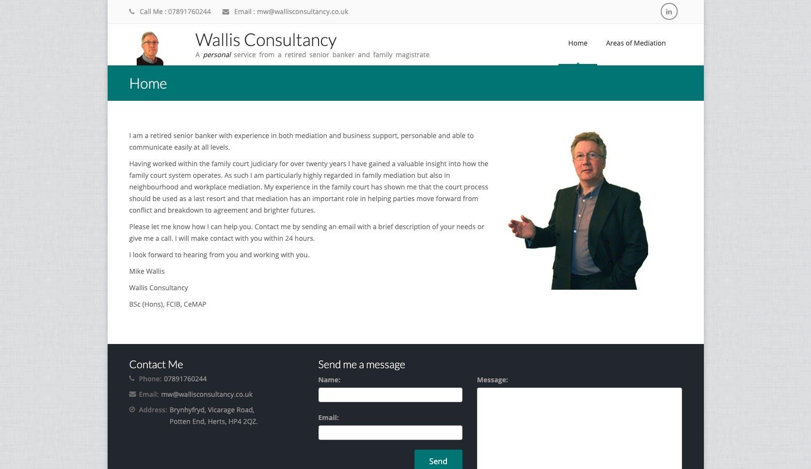 Current Wallis Consultancy website