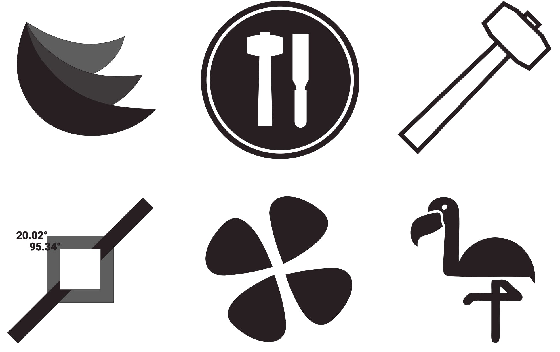 A sample of logo's taken from Logos With Design