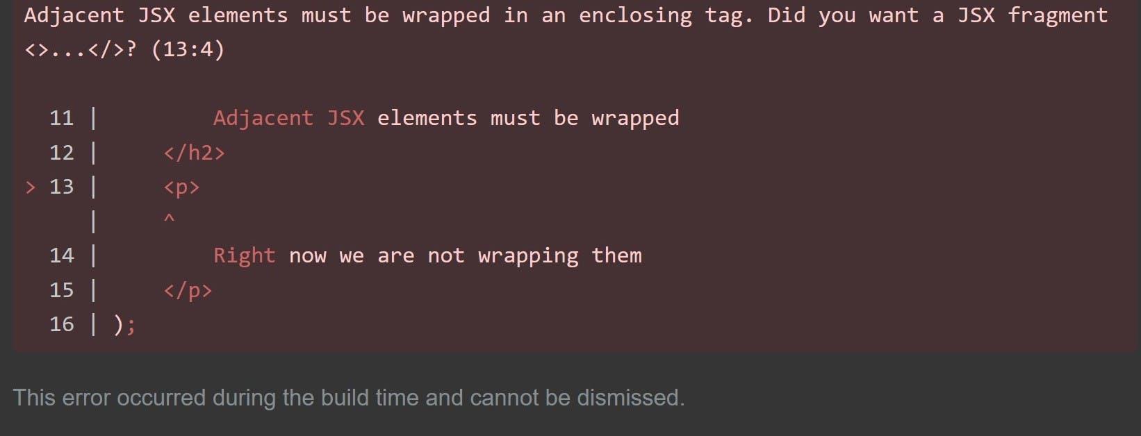 Adjacent JSX error