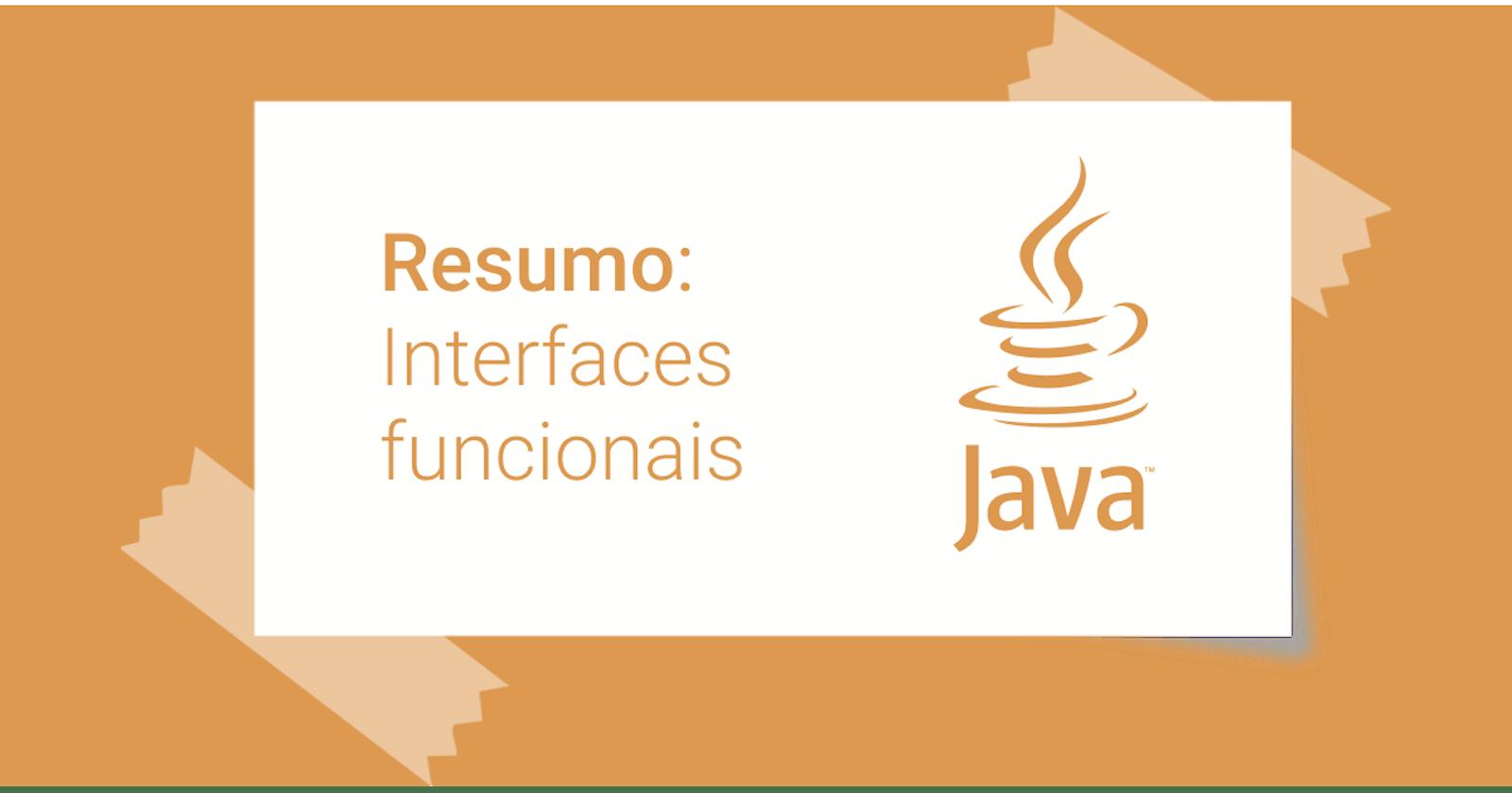 Resumo: Interfaces funcionais em Java