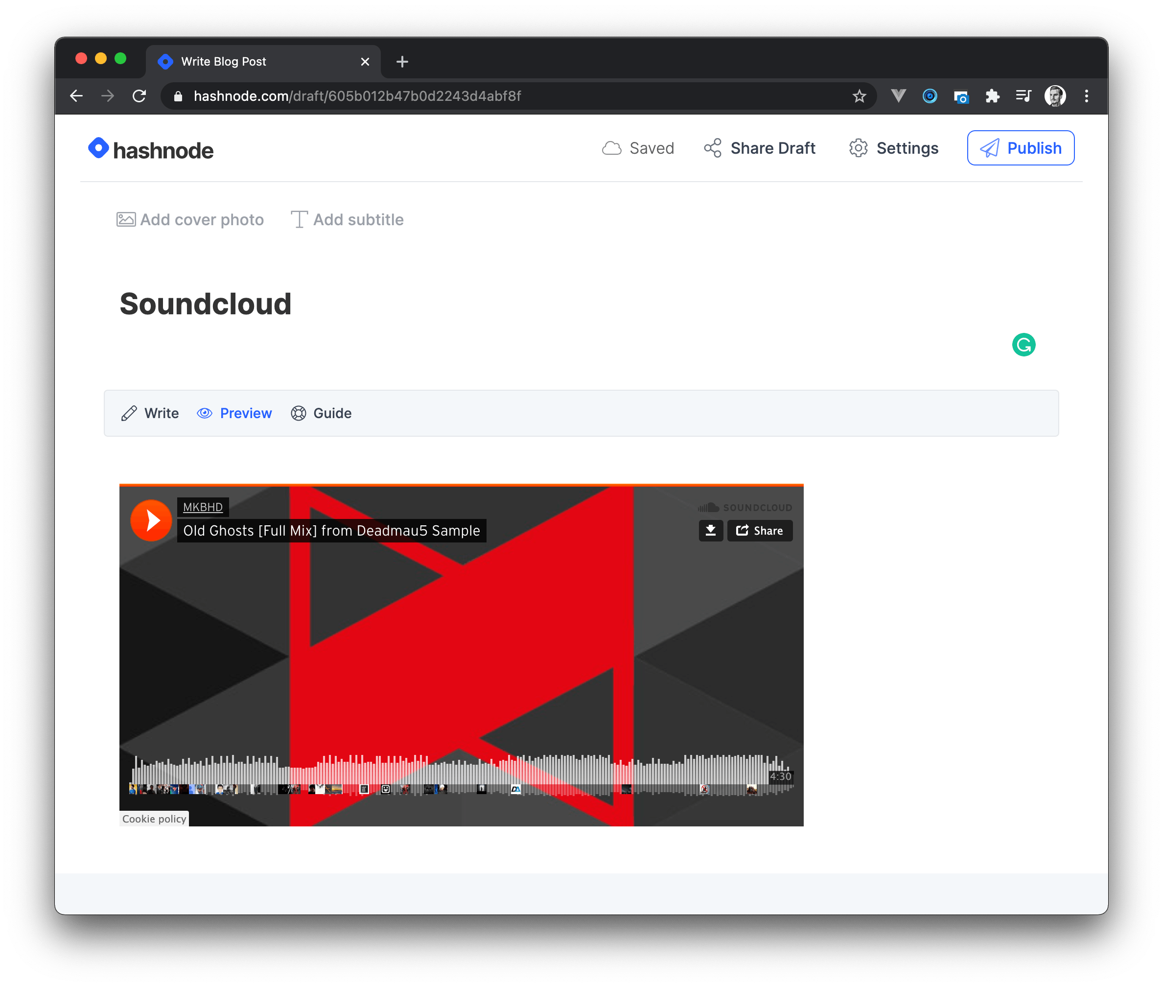 Embed Soundcloud