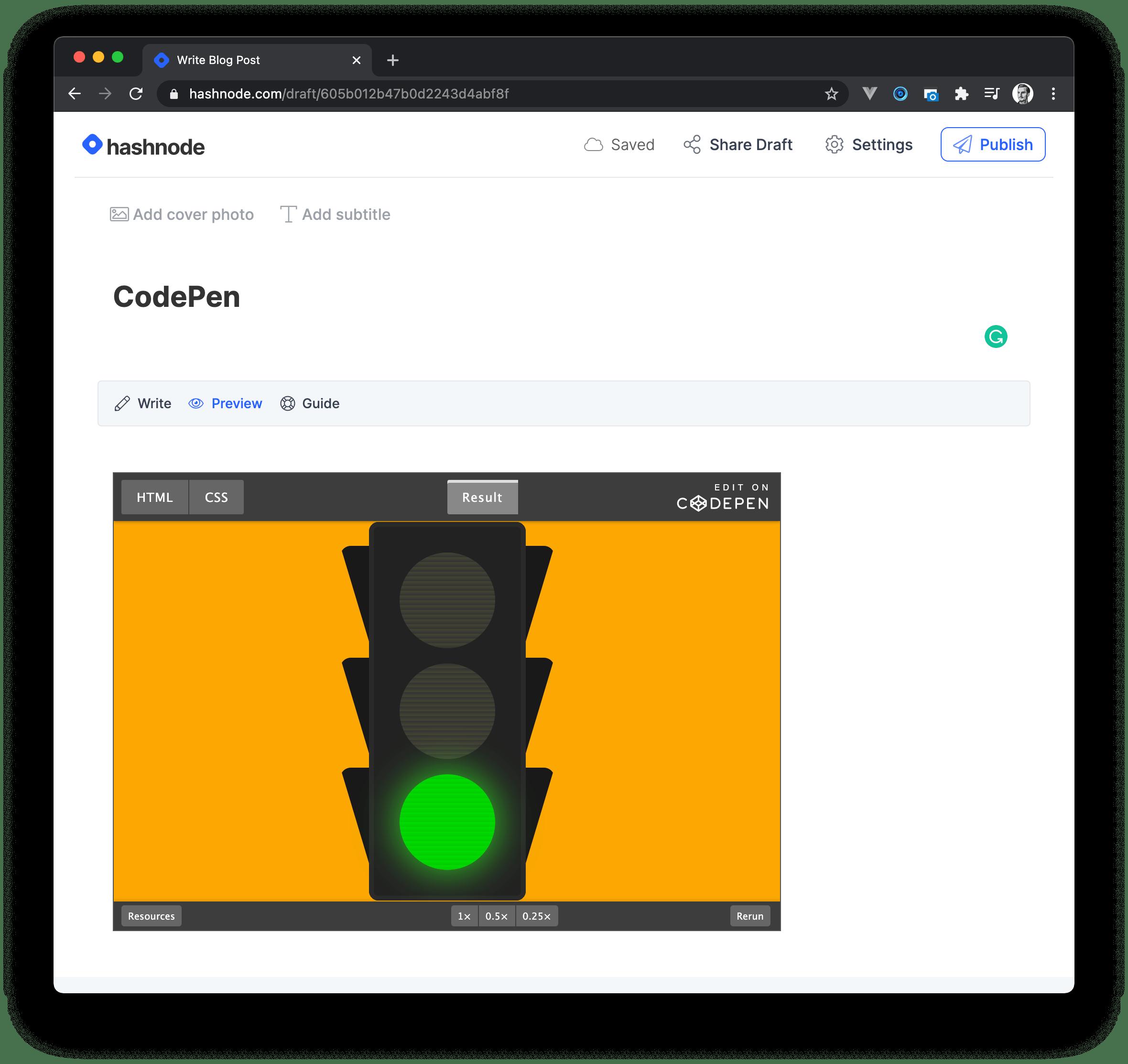 Embed CodePen