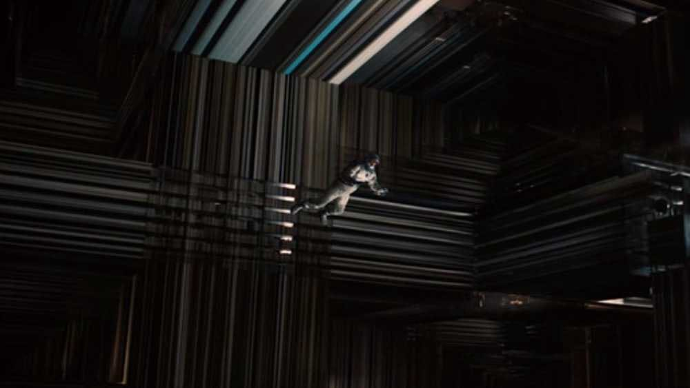 Image of Tesseract from Interstellar showing multiple dimensions
