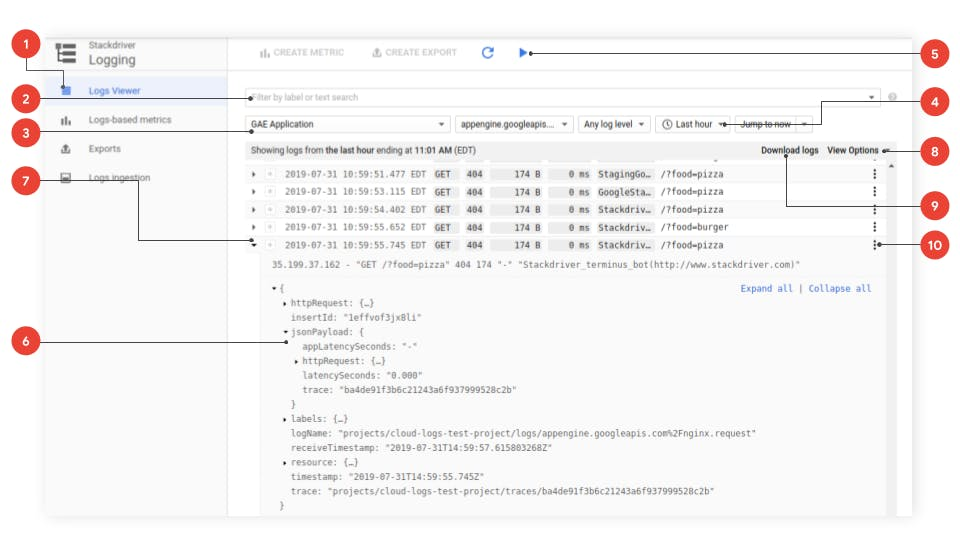 Image from official google cloud logging documentation