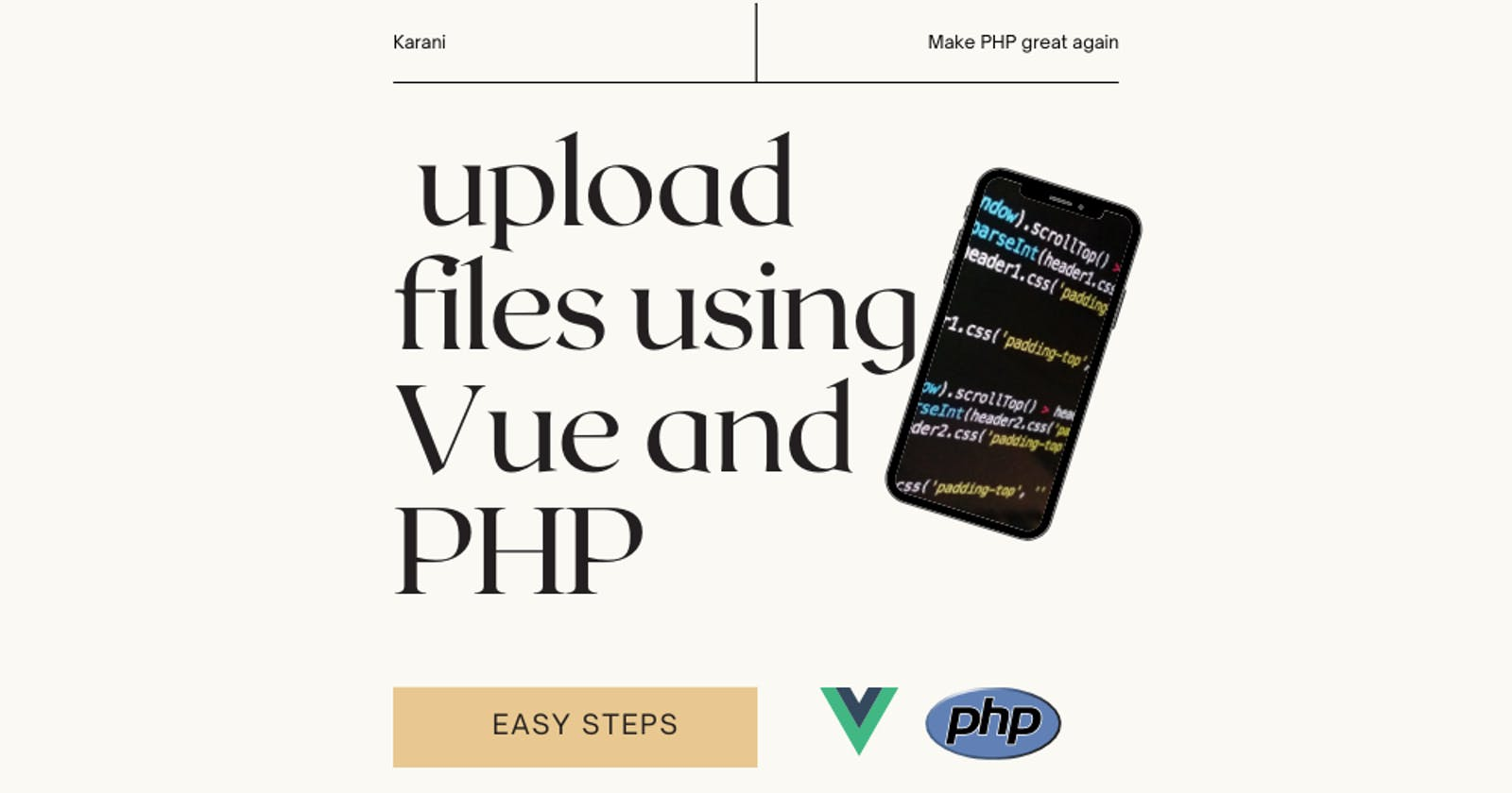 File uploads with Vue and PHP