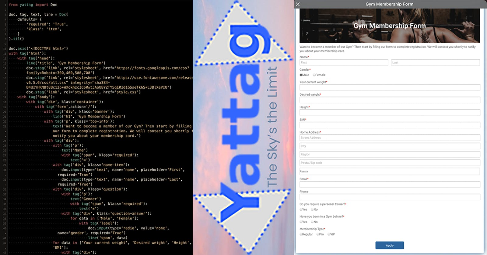 Let's make a HTML form with Python