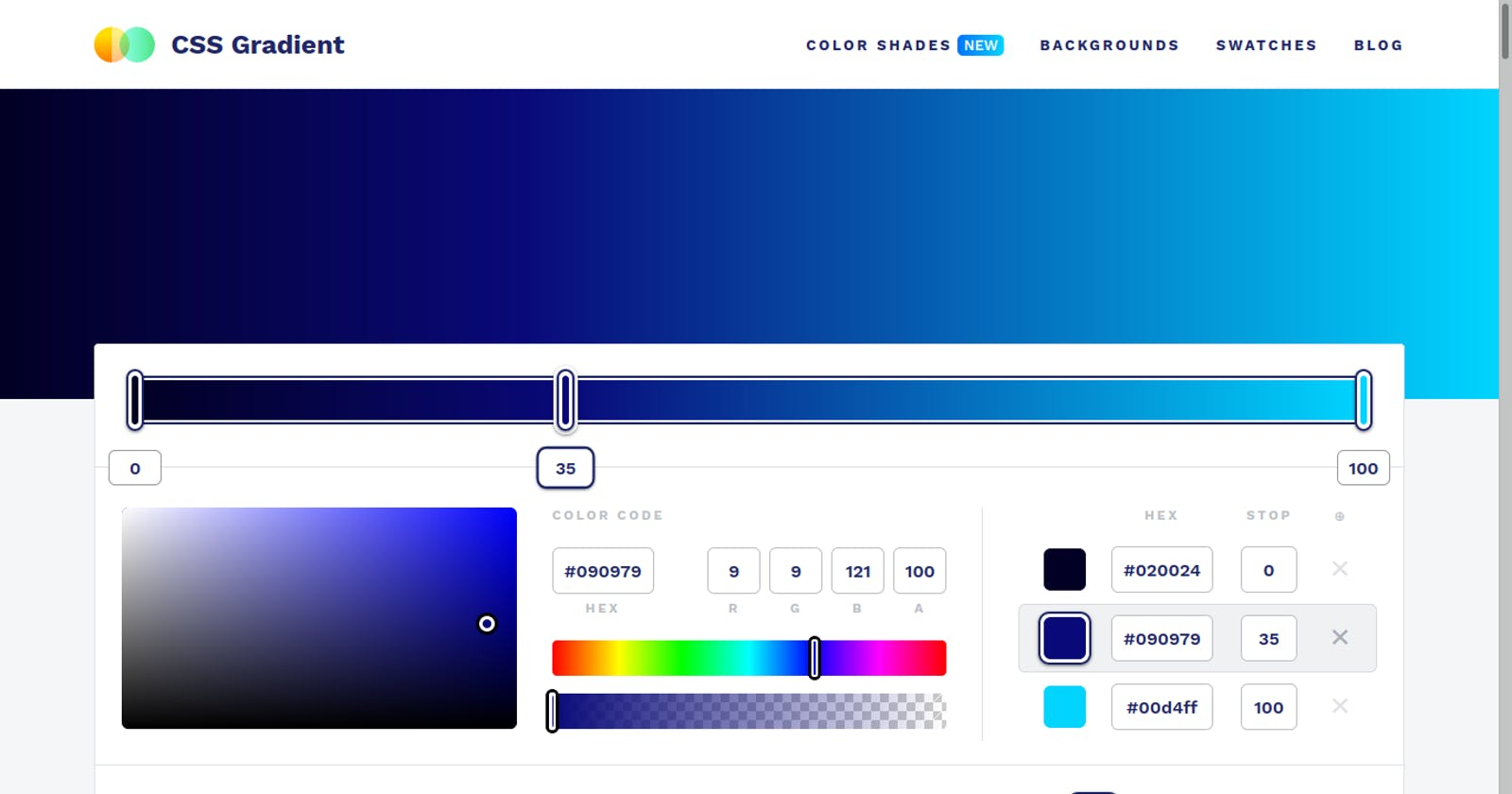 save your time in CSS gradients with some amazing websites