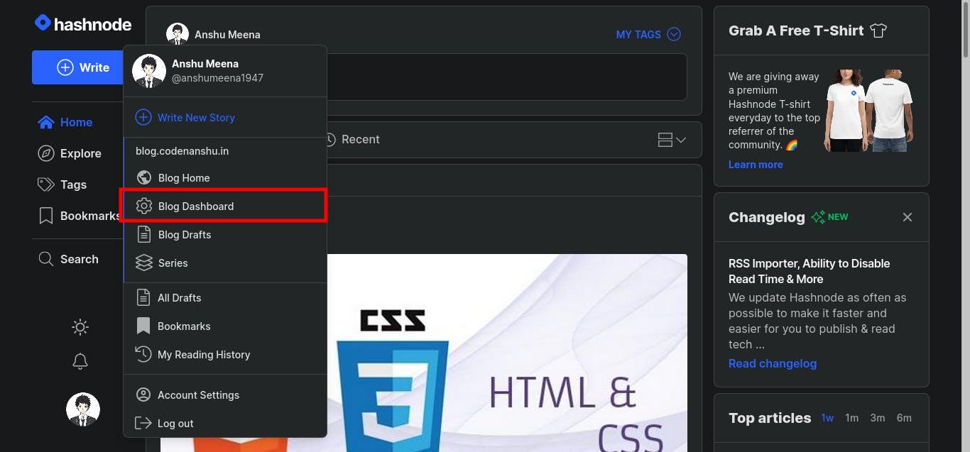 How to import medium post in hashnode?