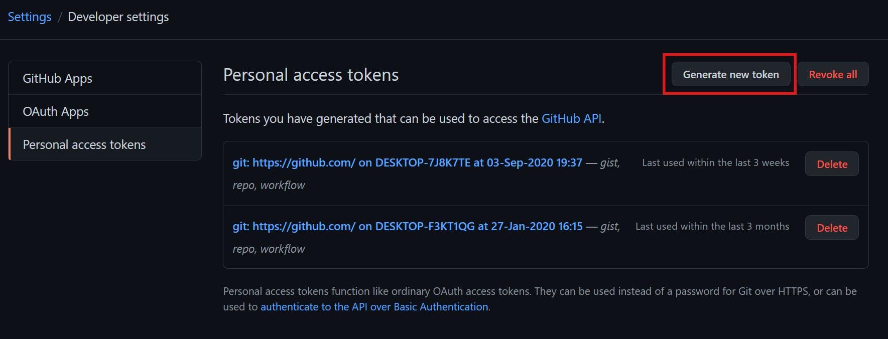generate new token.PNG