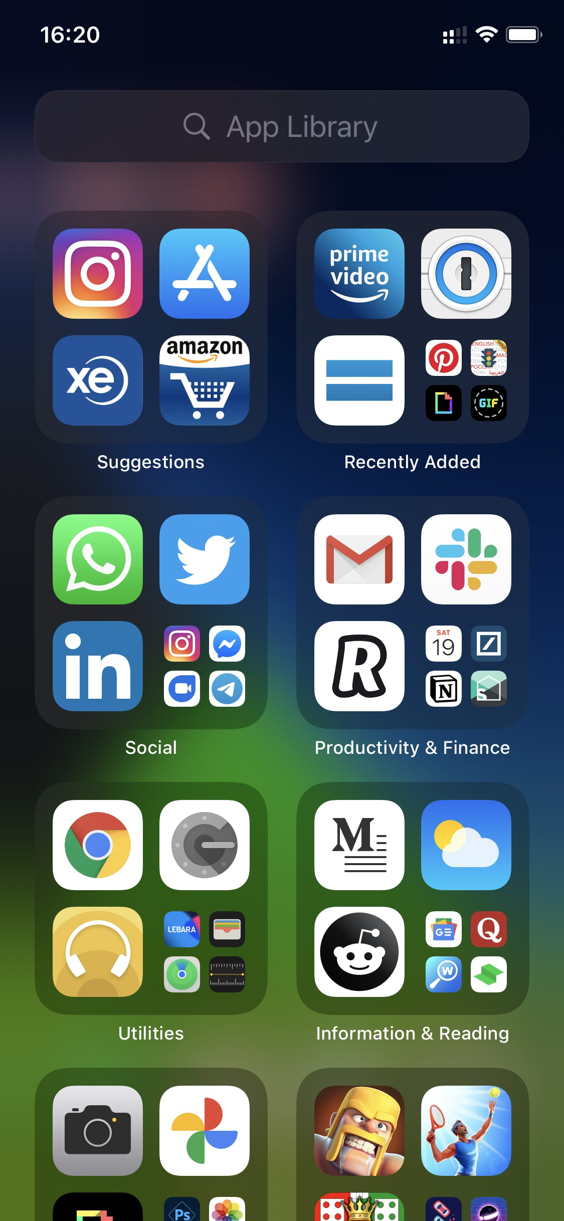 App Library. Provided by author