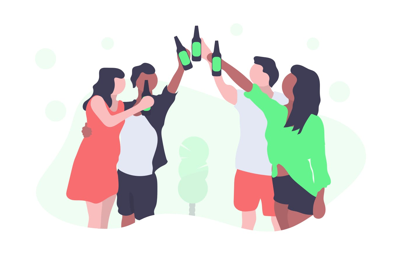 illustration of people celebrating