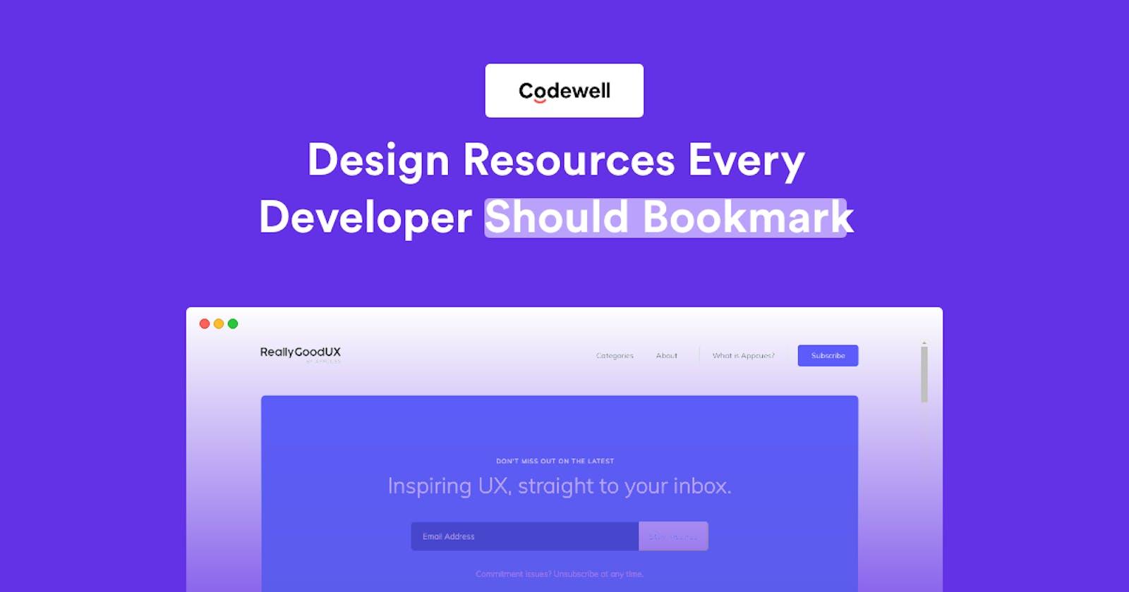 Design Resources Every Developer Should Bookmark