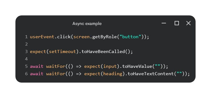 Async example