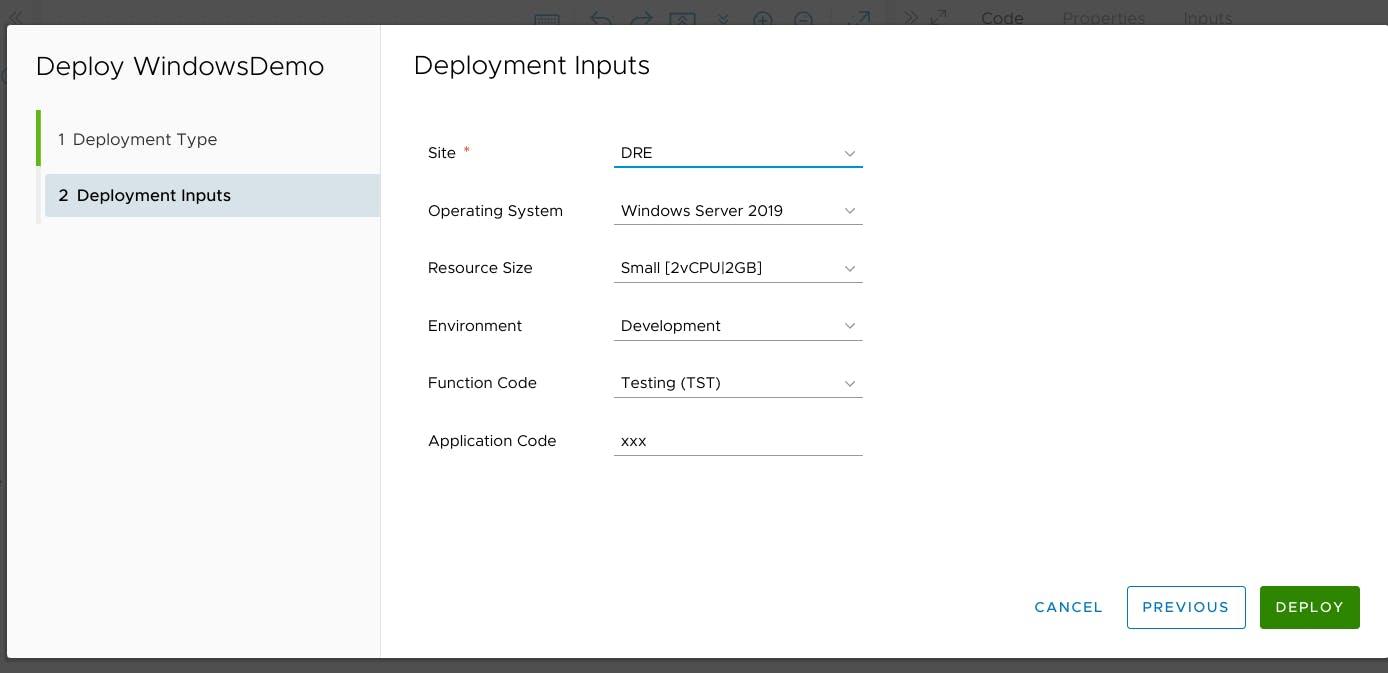 Test deployment
