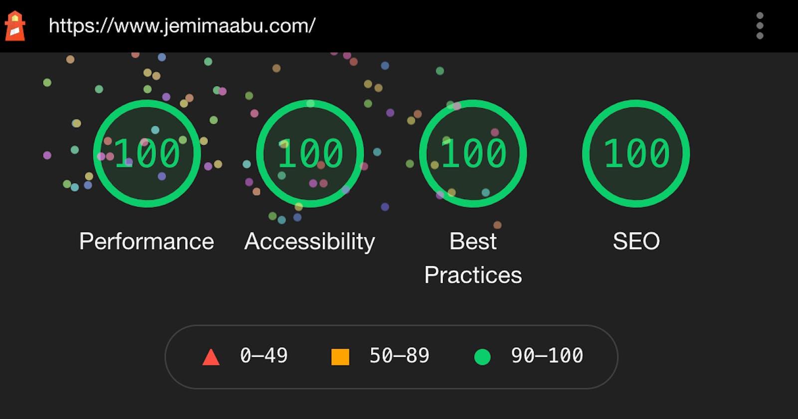 How I Built My Perfect Score Portfolio Website