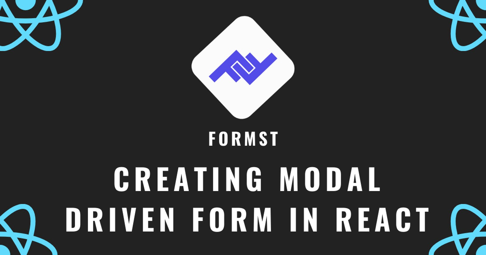 Formst - Creating your first form with Formst (Model driven form library for react)