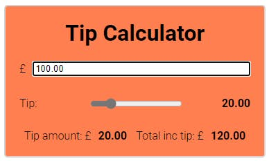 Image of simple web based tip calculator