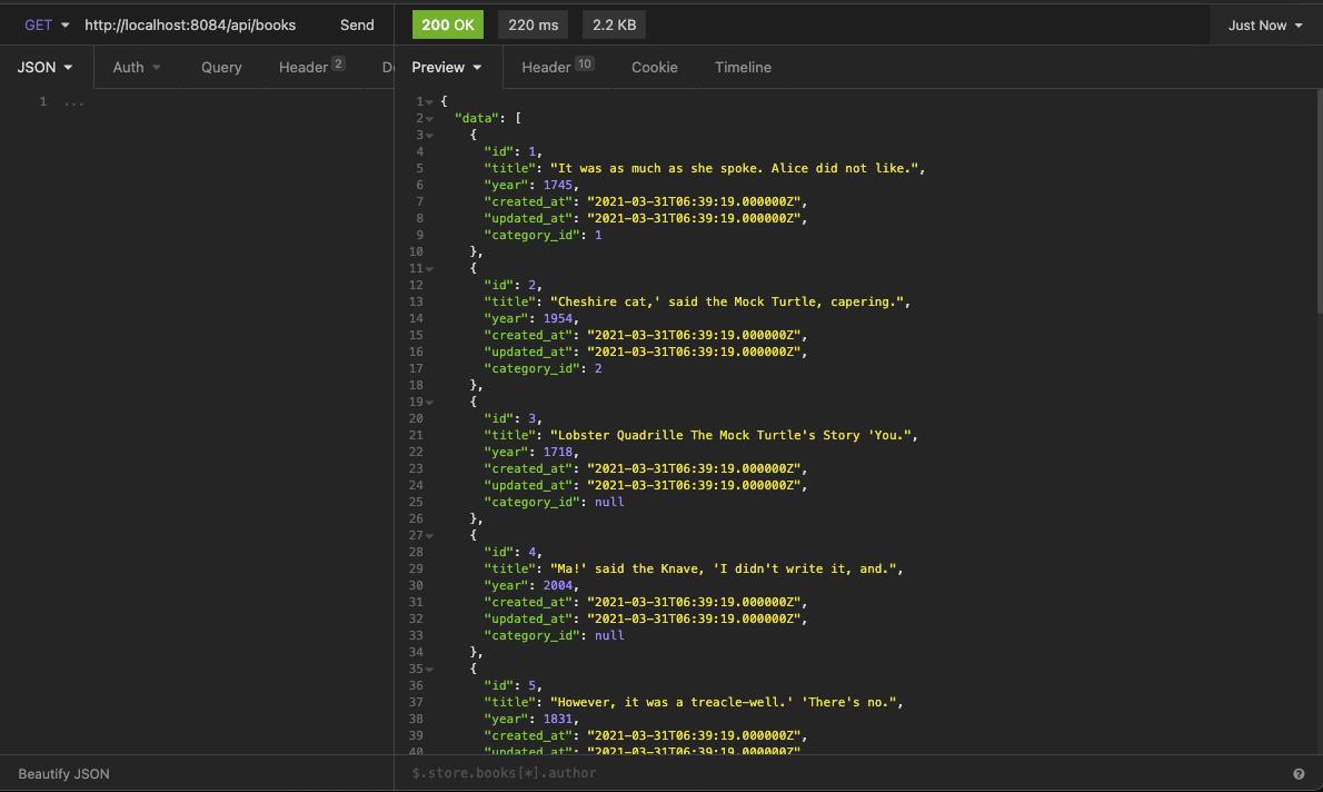 Testing our API response