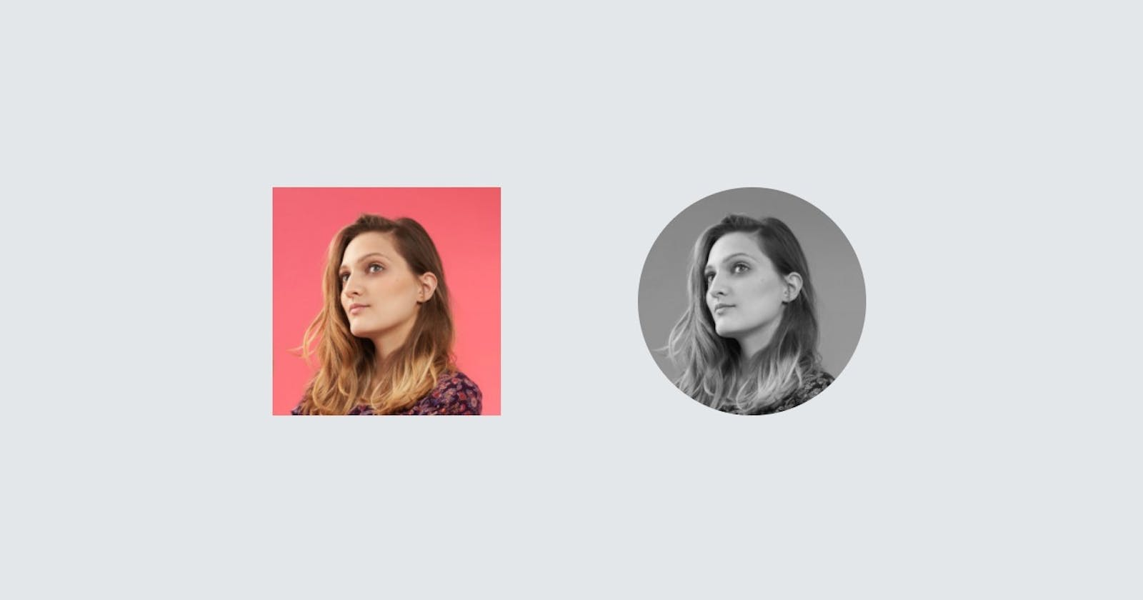 Rounded Black and White Image Effect using CSS