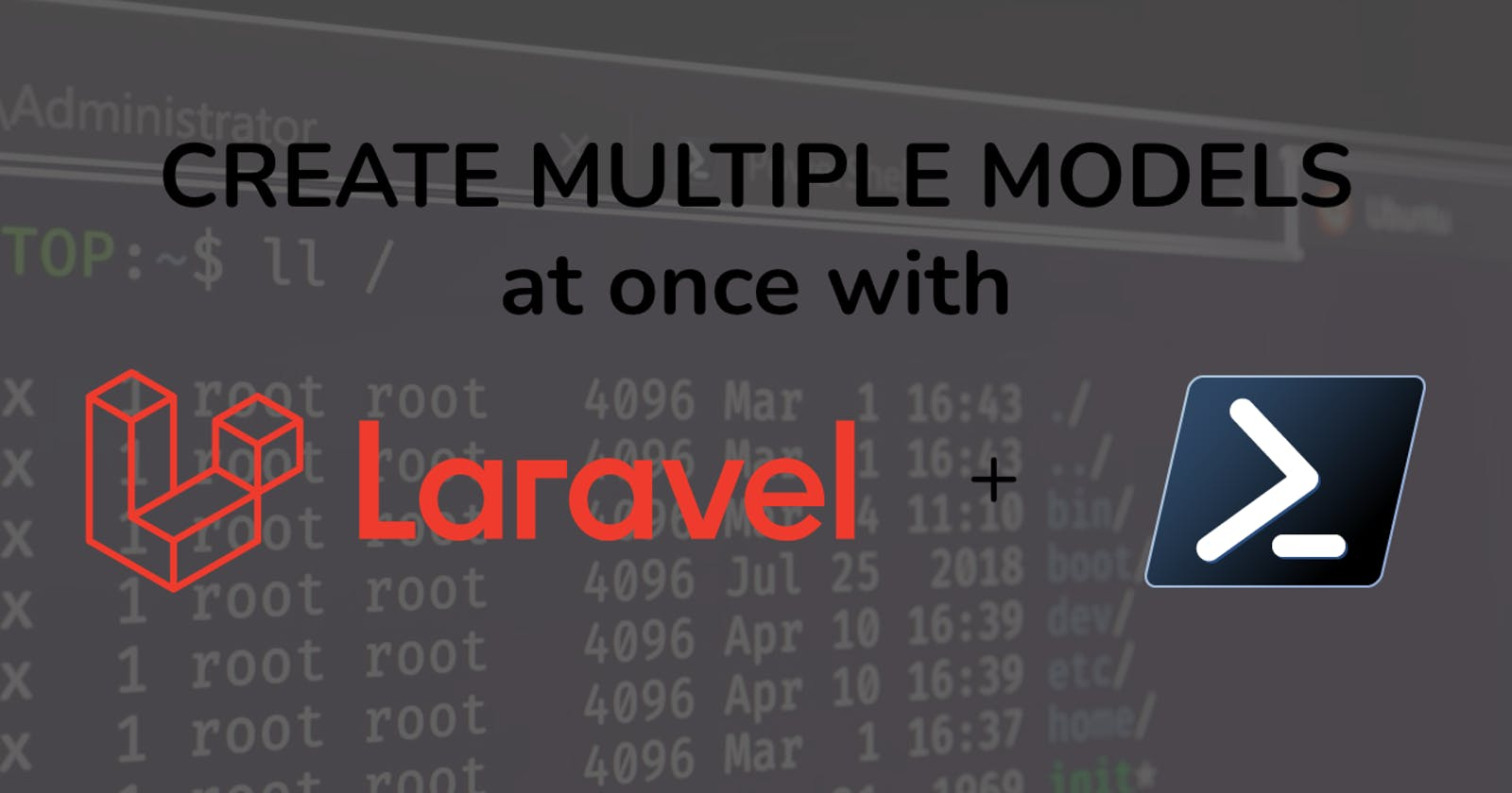 How To Create Multiple Laravel Models With A Single Command