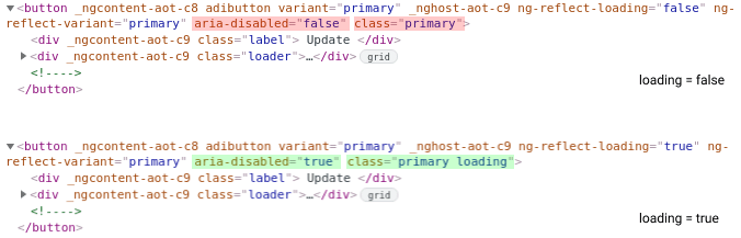 Button HTML changes