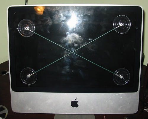 Removing the Screen Protector from the iMac