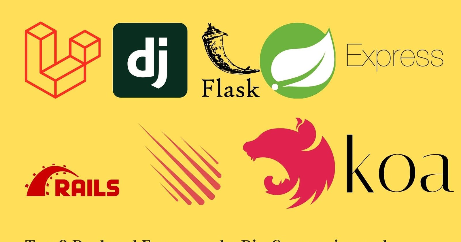 Top 9 Backend Frameworks Developers and big Tech Companies are using in 2021.