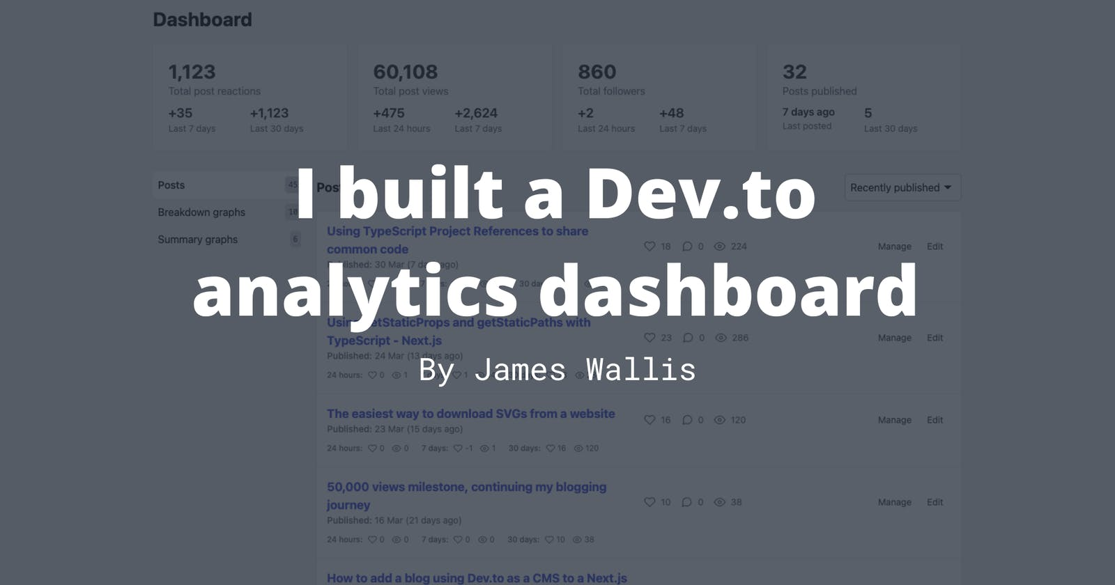 I built an advanced Dev.to dashboard with historic data using Next.js and Azure Functions 📈