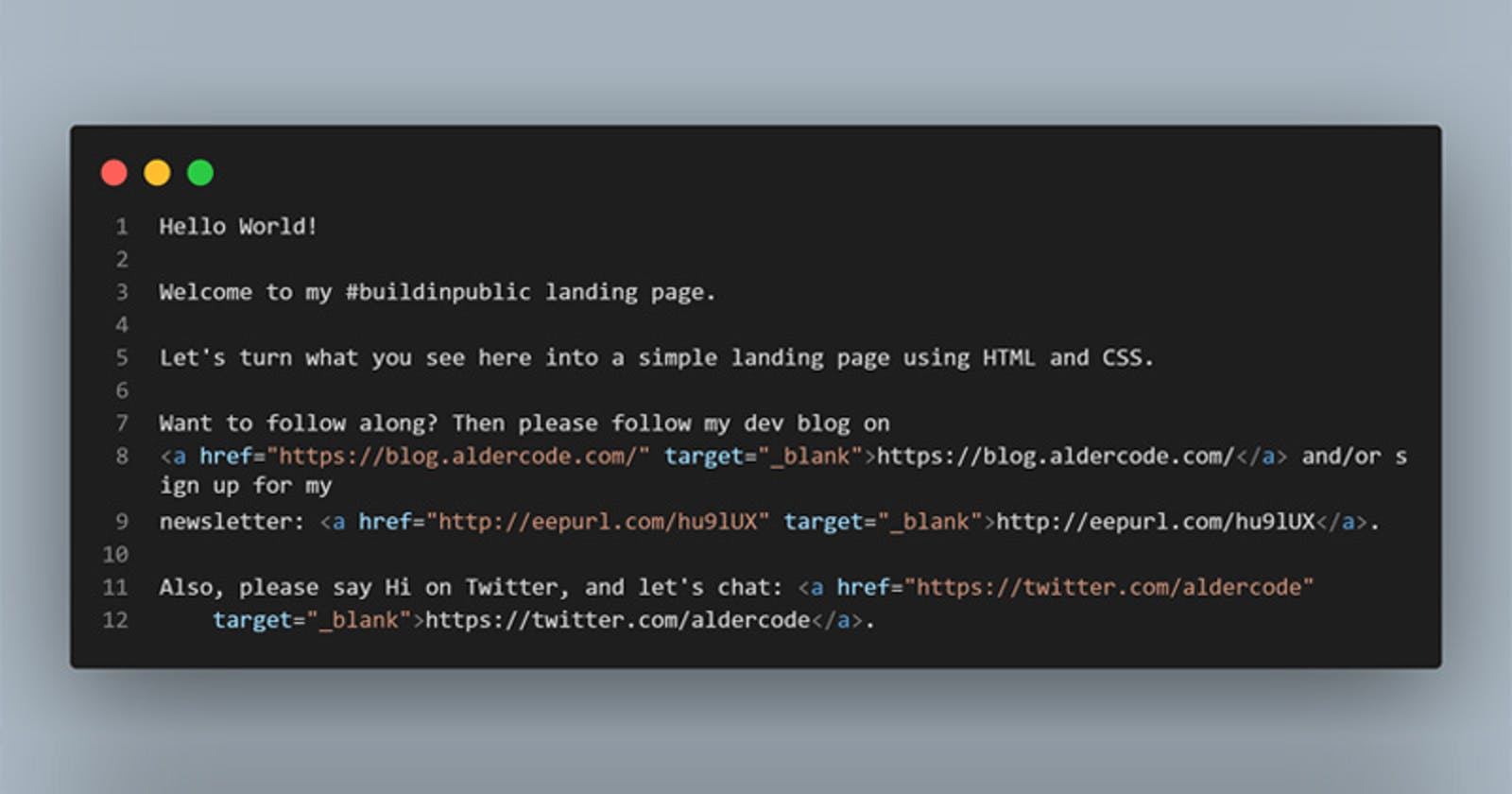 Building a landing page with HTML & CSS - part 1