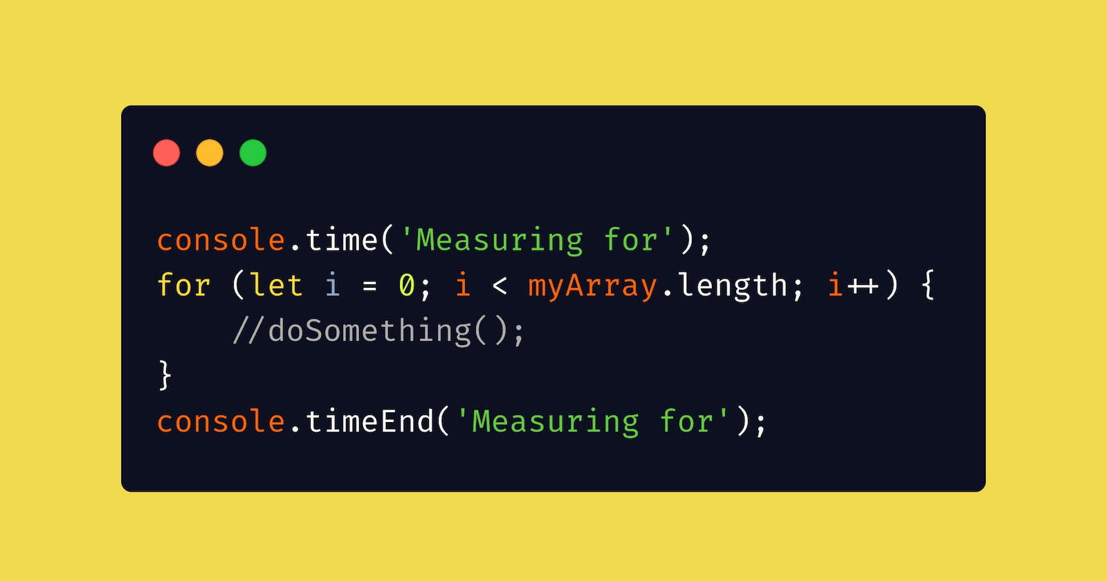 console.time() in JavaScript