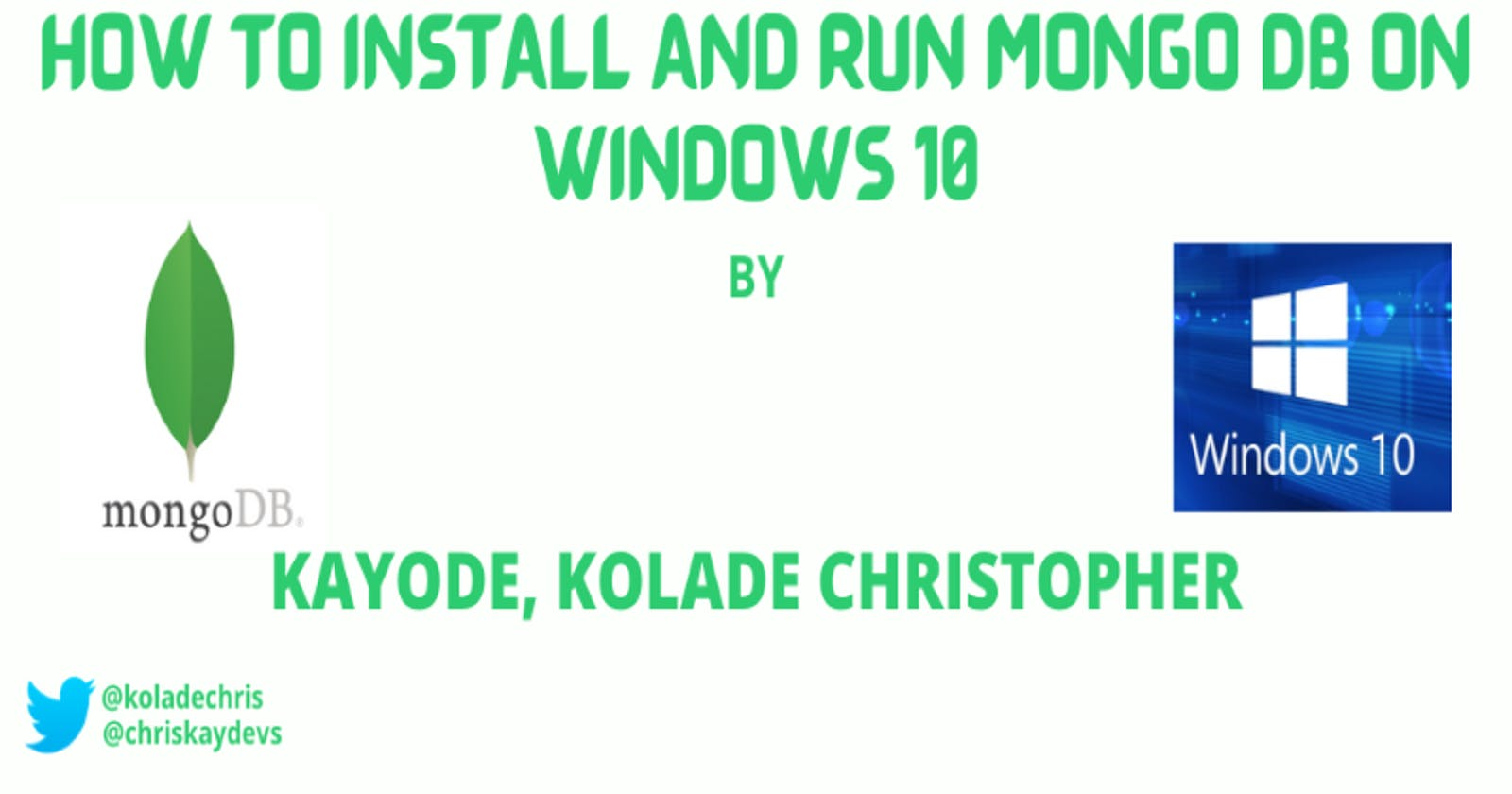 How To Install And Run Mongo Db On Windows 10
