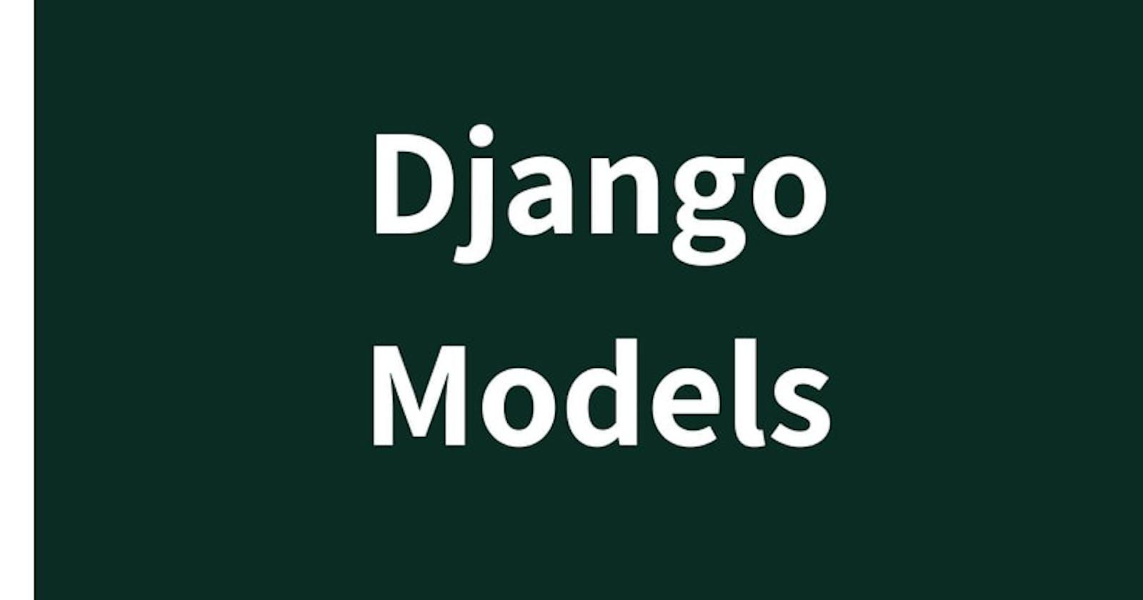 Django Models