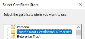 Trusted roots store