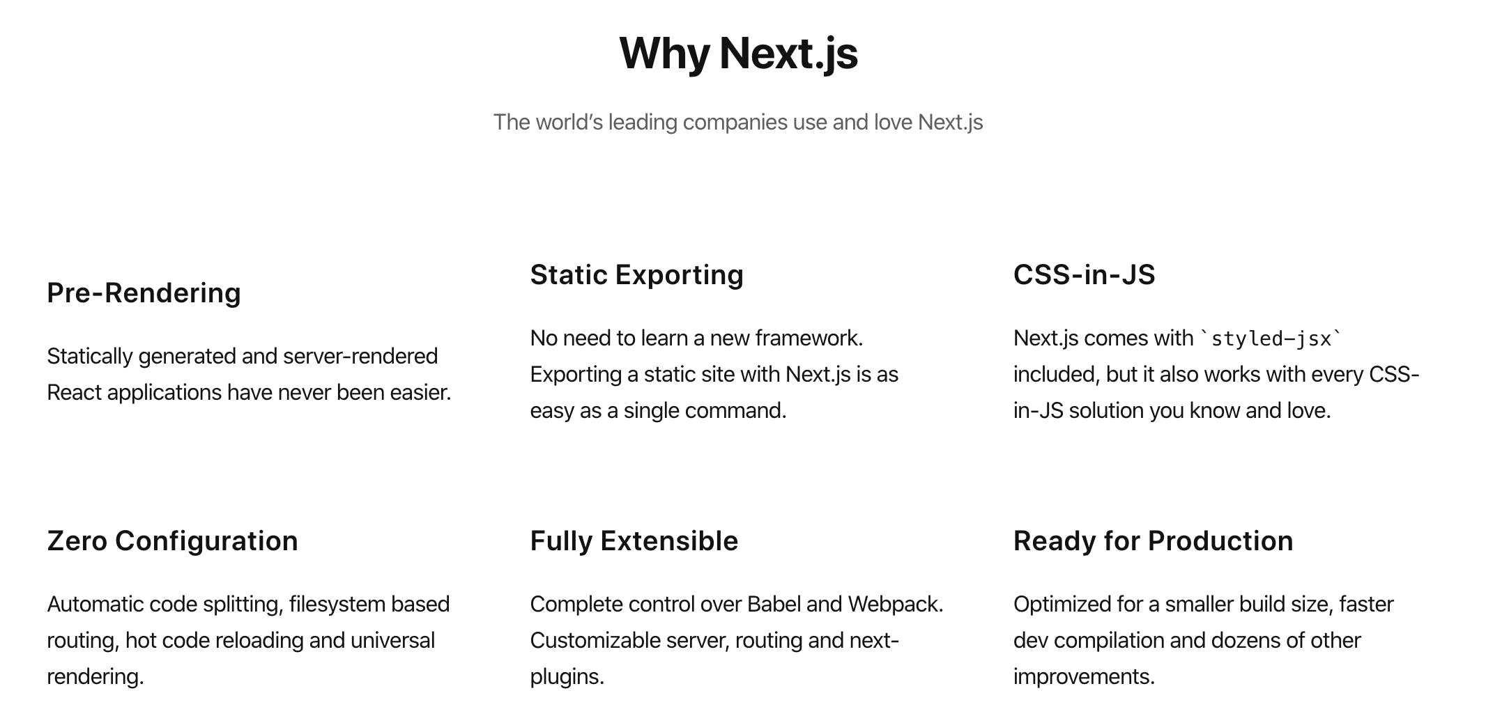 Why Next.js