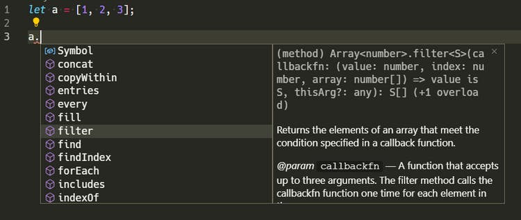 Autocompletion in VS Code