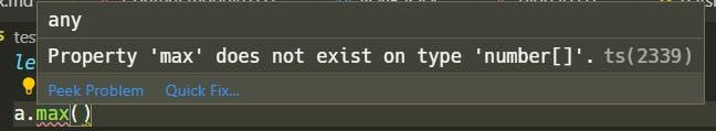 Showing errors in VS Code