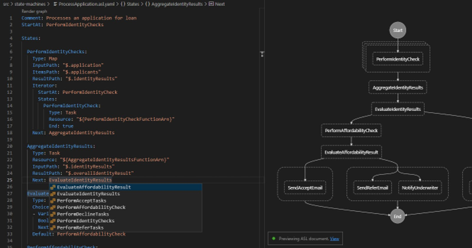 Easier Step Functions with the AWS Toolkit for VS Code