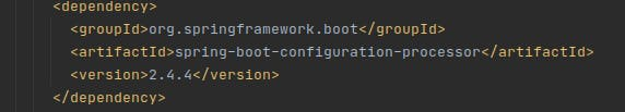 Importing org.springframework.boot artifact spring-boot-configuration-processor