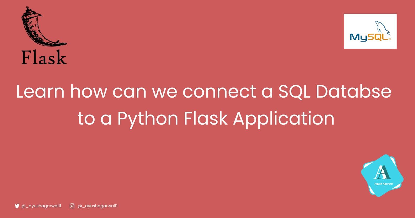 Connecting MySQL Database to Python Flask Application