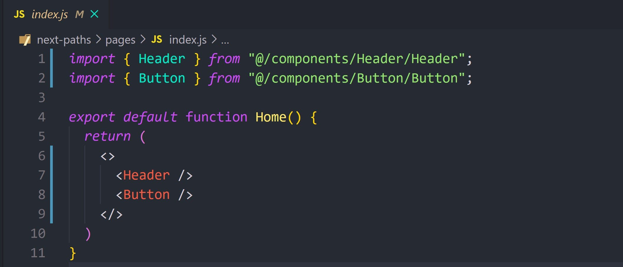 importing our components using our path aliases