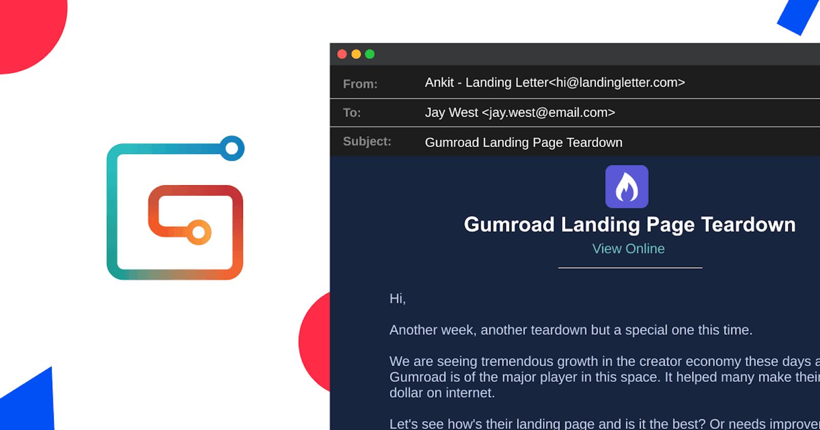 Gumroad Landing Page Teardown
