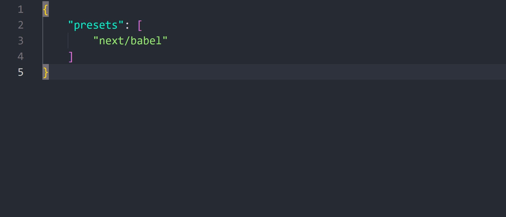 configure file for babel to work with next.js