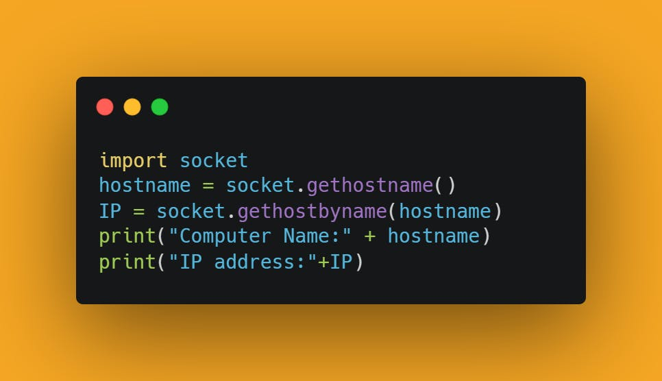 Final Source Code for IP Address Fetcher using Python