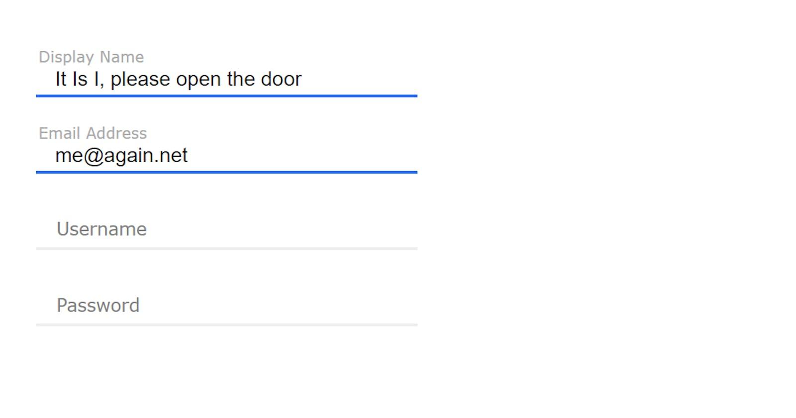 Designing Simple Registration Form