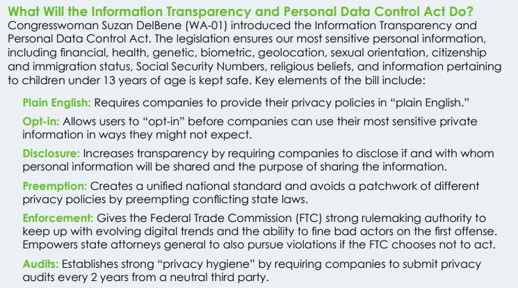 Towards a national privacy law in the U.S. ?