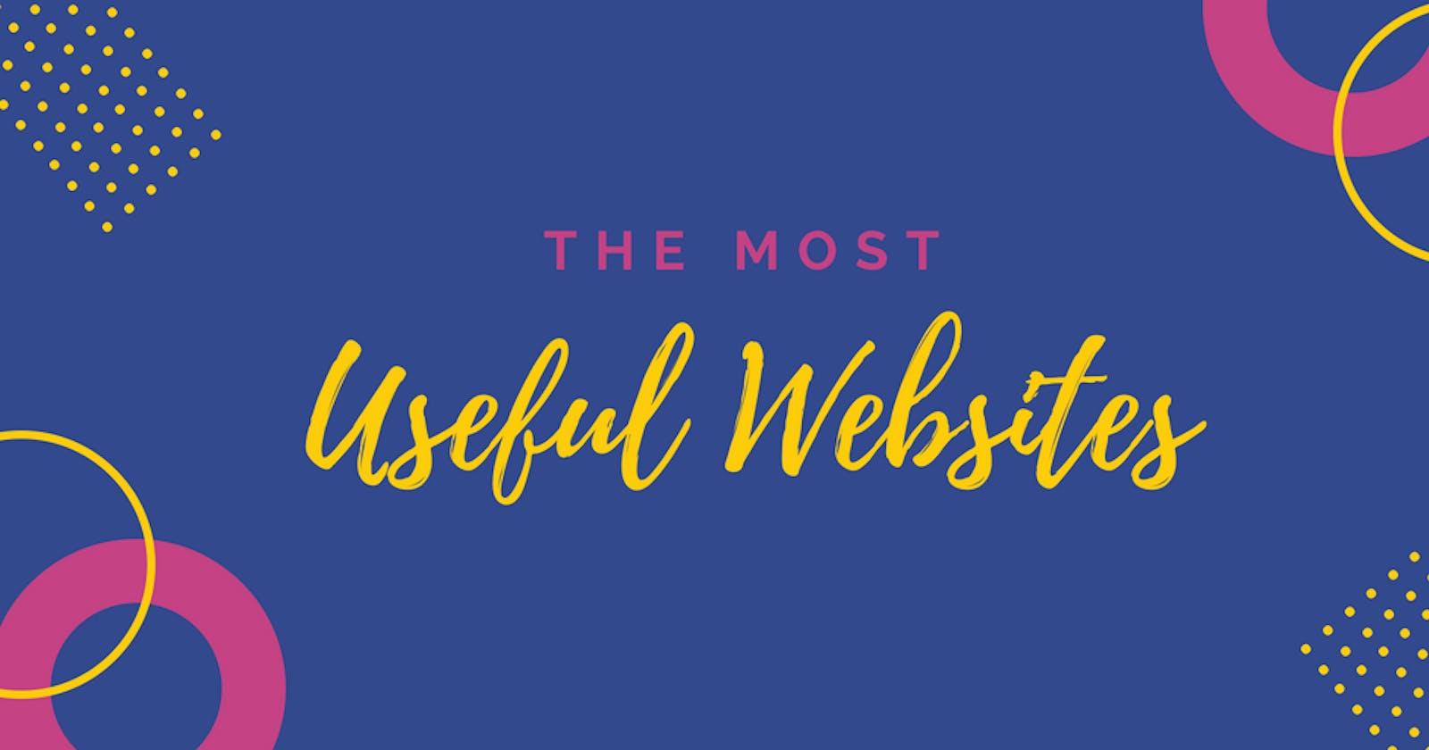 Useful Websites List