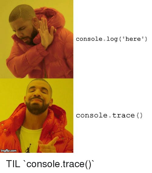 console trace meme