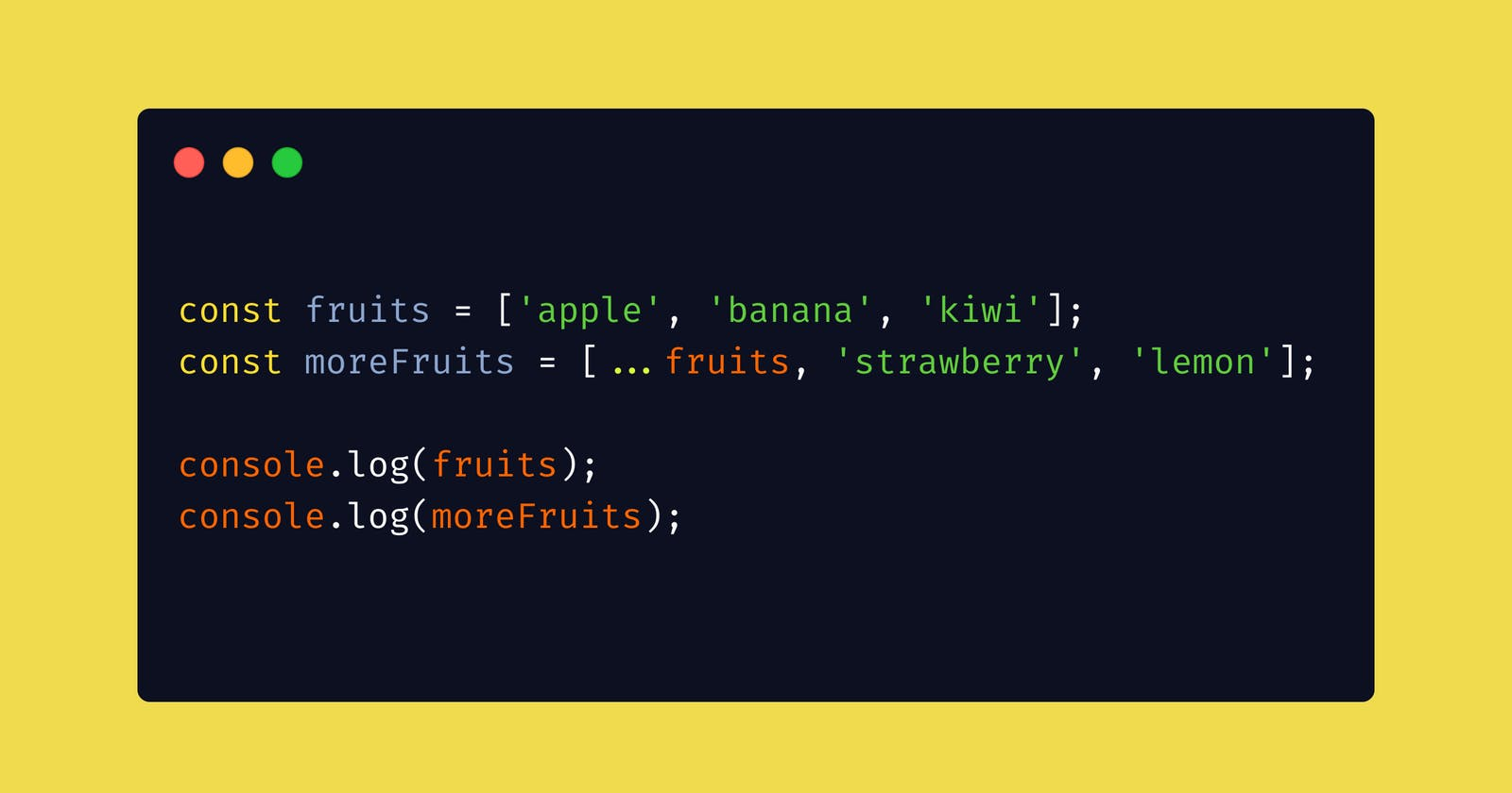 JavaScript's three dots (...). Spread and Rest Operators.
