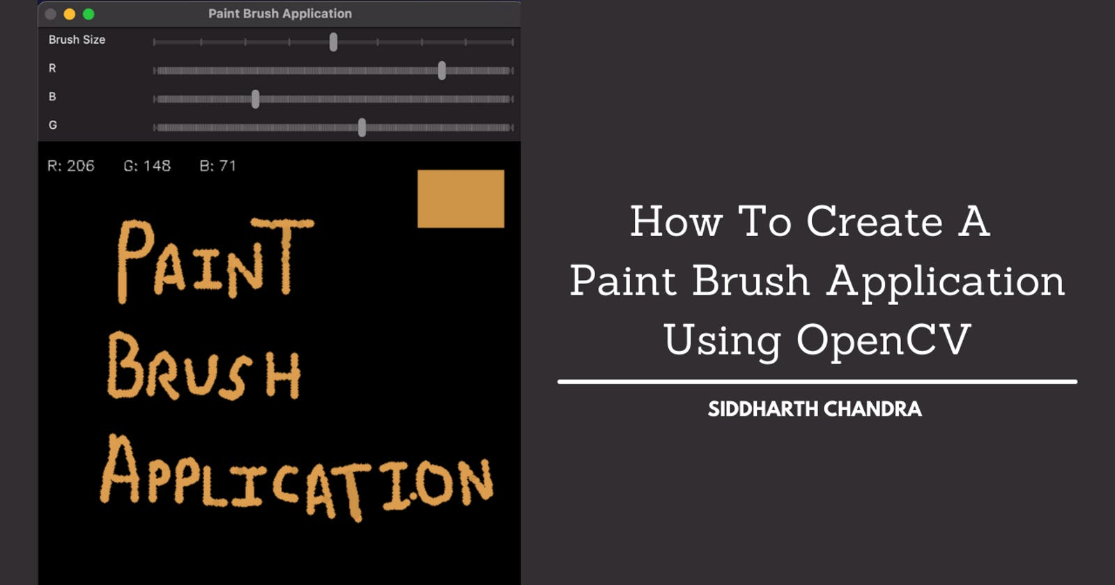 How To Create A Paint Brush Application Using OpenCV
