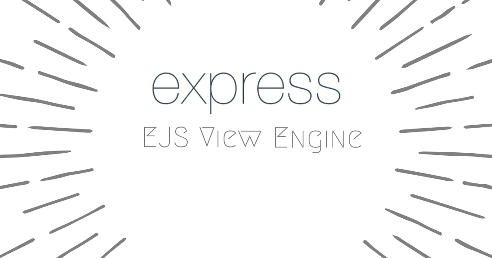 Setup Template Engines with Express
